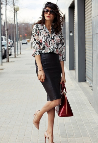 How to Wear Leather Skirts | Imageology Style Blog