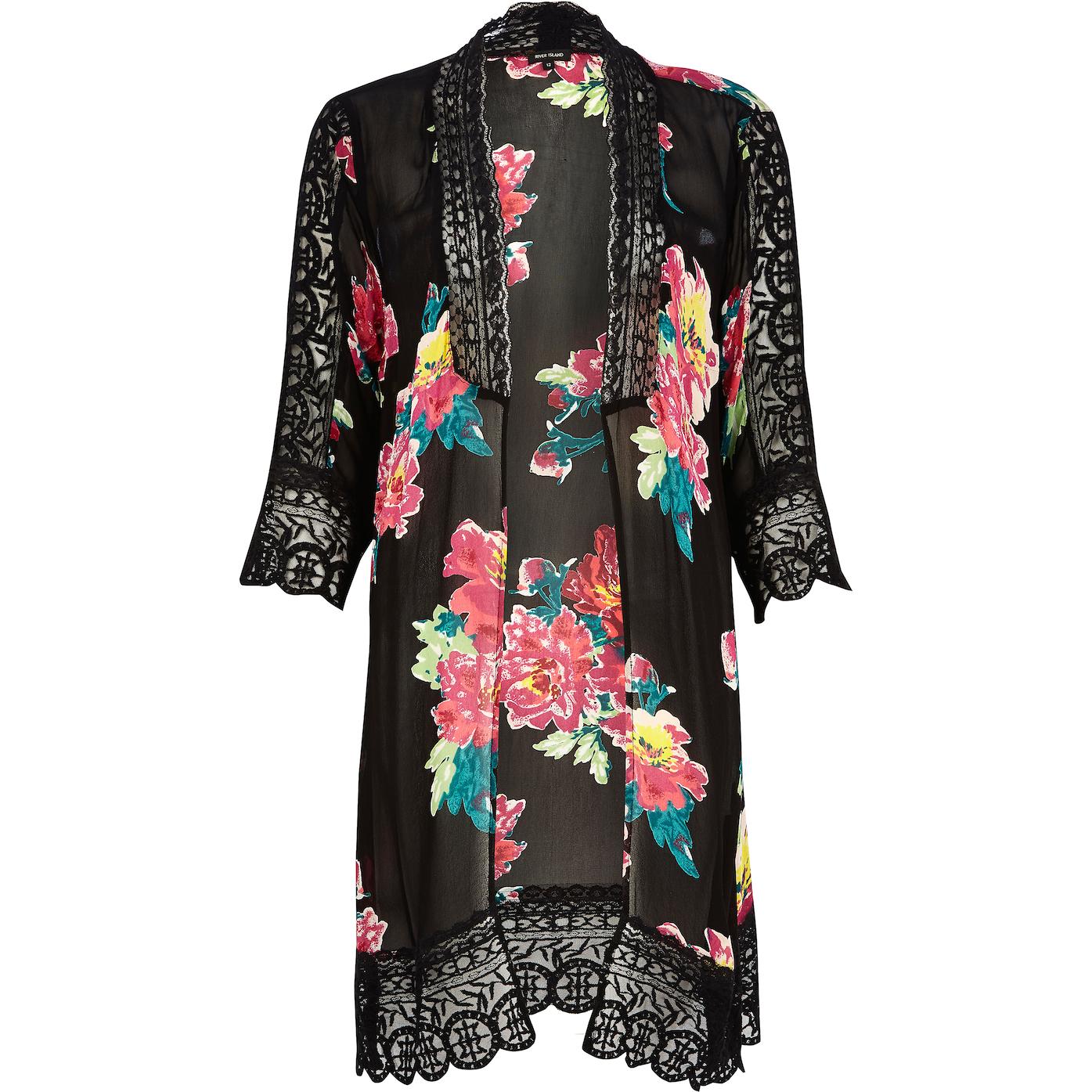 River Island_R829_black floral Victorian kimono_653281