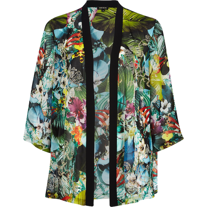 River Island_R979_floral black trim tropical sheer kimono_656289