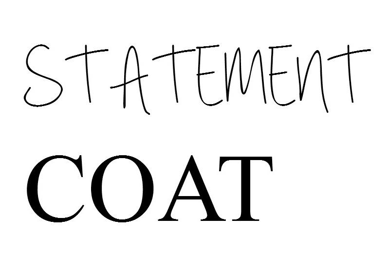 WE Statement Coat